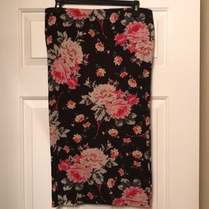 NWOT Express Floral Midi Pencil Skirt